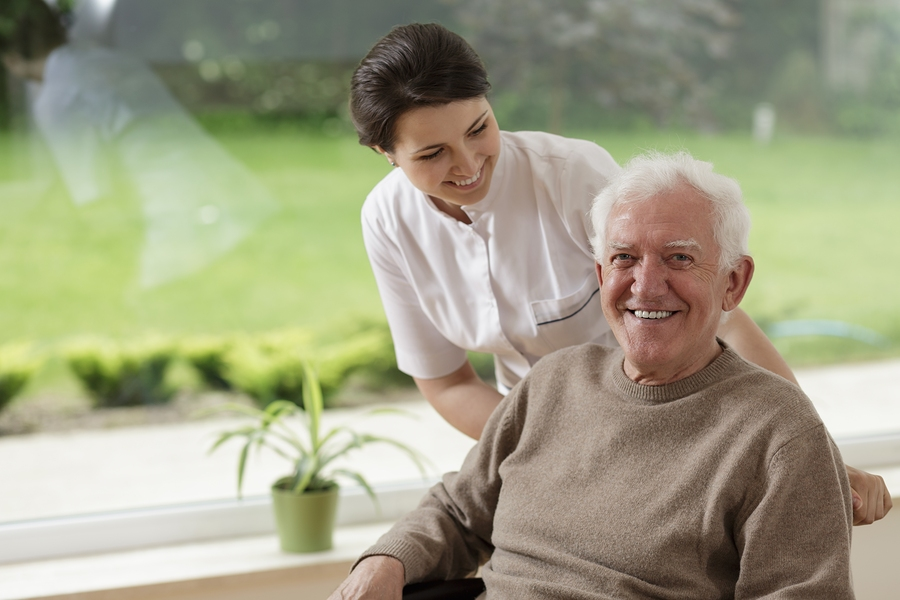 Smiling senior man staying in nursing home in Rancho Santa Margarita, CA