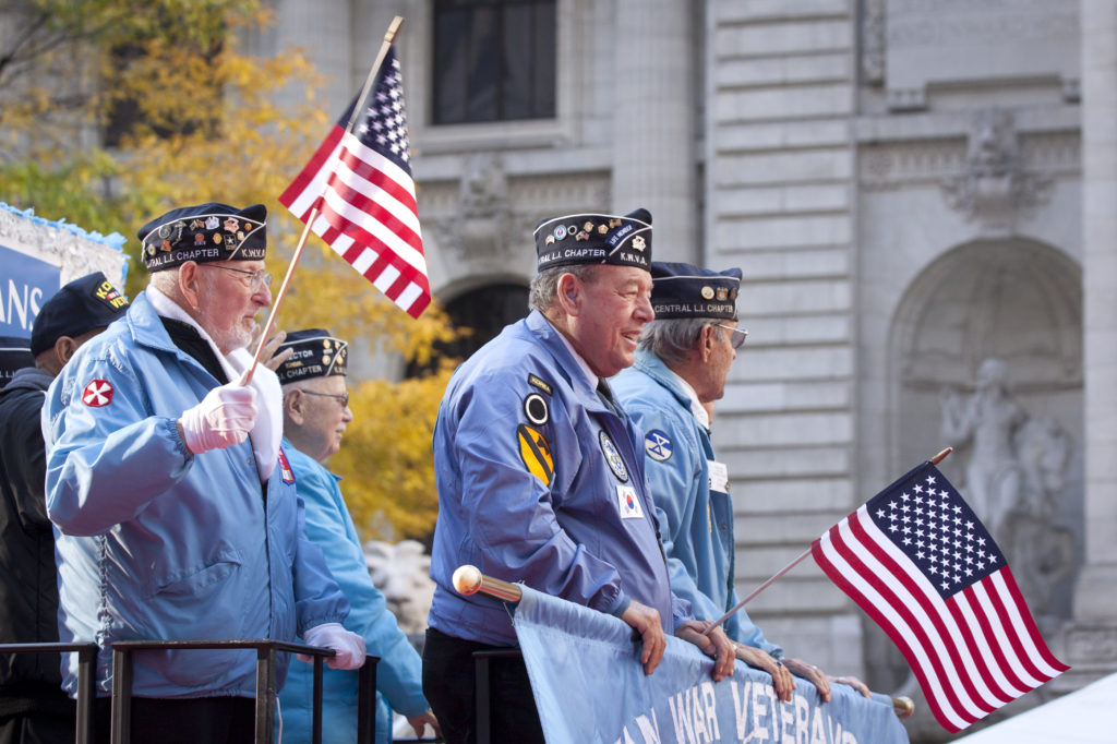 Veterans in a parade in Laguna Hills, California.