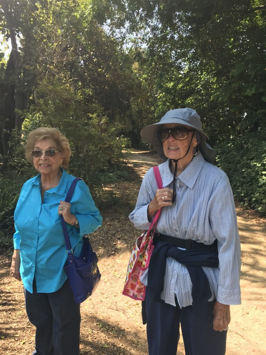 Caregiver and Clients on Fun Hike