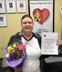 Caregiver of the Month: Maria Moore Arceo